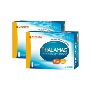 Thalamag magnésium marin fer B9 vitalité lot de 2 x 30 gélules