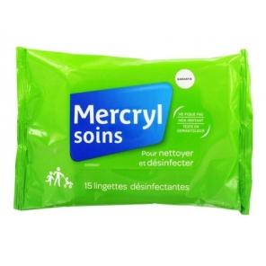 Mercryl lingettes antiseptiques x15