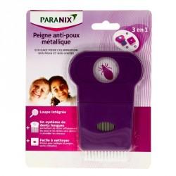 Paranix Peigne Anti-Poux 3en1 Métallique