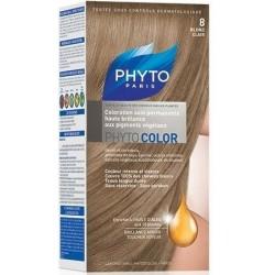 Phyto Color Coloration Soin Permanente Haute Brillance aux Pigments Végétaux Blond Clair