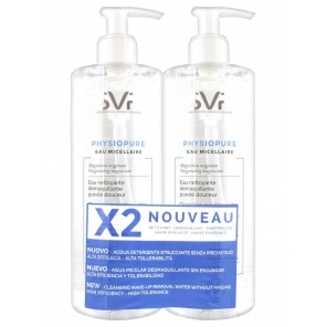 SVR Physiopure Eau Micellaire Nettoyante 2 x 400 ml