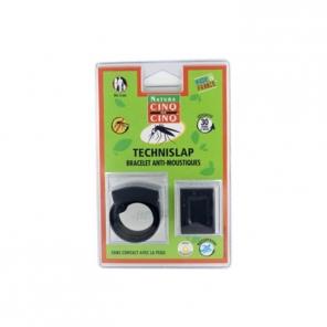 Cinq sur Cinq TechniSlap Bracelet Anti-Moustiques Noir
