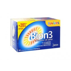 Bion 3 junior framboise 30 comprimés + 7 comprimés offerts