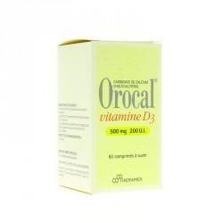 Orocal Vitamine D3 500mg/200UI 60 comprimés