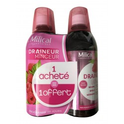 Milical draineur ultra framboise 2x500ml