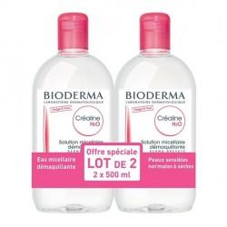 Bioderma créaline H2O sans parfum lot de 2 x 500ml