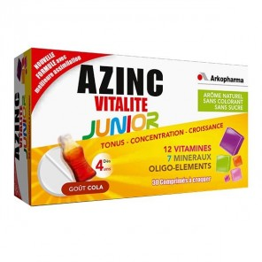 AZINC VITALITE JUNIOR COLA 30CP NSFP