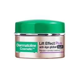Dermatoline cosmetic lift effect plus anti-âge global nuit 50 ml
