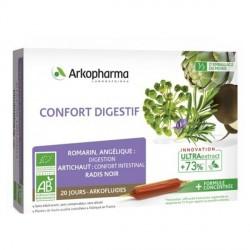 Arkofluide bio peau confort digestif 20x10ml ampoules