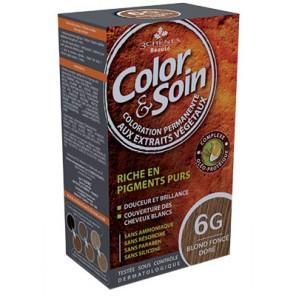 3 Chênes Colors&Soin blond foncé doré coloration permanente 6G
