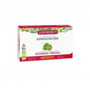 Superdiet Ginkgo Biloba bio complément alimentaire 20 ampoules 300ml