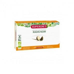 Superdiet Radis noir bio complément alimentaire 20 ampoules 300ml