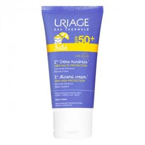 Uriage Bébé 1ère crème minérale SPF50+ tube 50ml