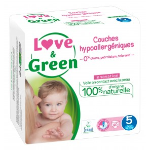 LOVE and GREEN couches hypoallergéniques T5 - 40 couches