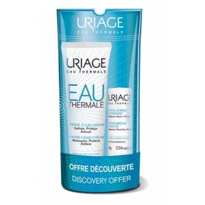Uriage crème d'eau mains 30ml + stick lèvres hydratant 4g