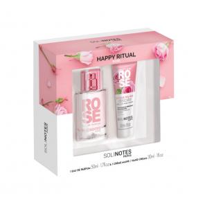 Coffret Eau de Parfum et Crème Mains à la rose
