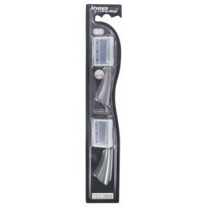 Inava - recharge de deux brossettes Hybrid Timer - Noire