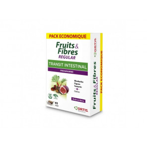 Fruits & Fibres Regular pack Economique - 45 gommes