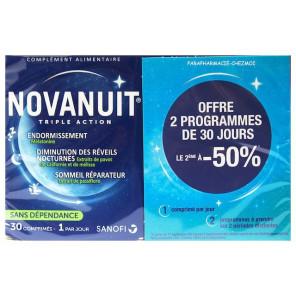 Sanofi novanuit triple action sommeil lot de 2 boites de 30 gélules