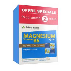 Arkopharma Magnesium Vitamine B6 bte 120 gélules - 2mois