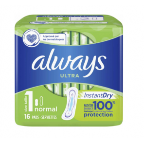 Always Ultra Normal Taille 1 16 serviettes