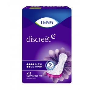 Tena Lady Discreet Max Night 12 serviettes