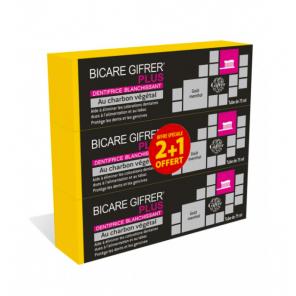 Dentifrice Bicare Gifrer Plus Au Charbon Végétal Lot 3x75ml